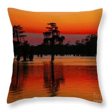 My Louisiana Heart Throw Pillow by Luana K Perez