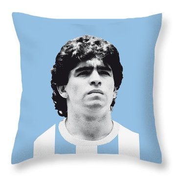 My Maradona Soccer Legend Poster Throw Pillow by Chungkong Art