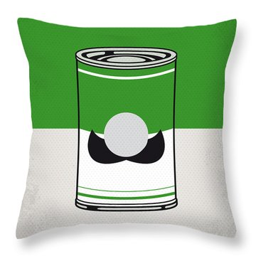 My Mario Warhols Minimal Can Poster-luigi Throw Pillow