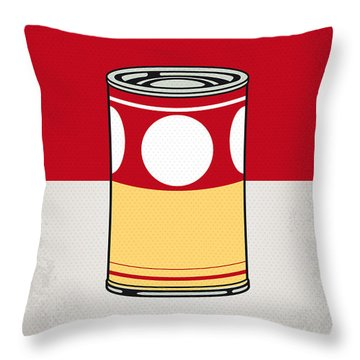 My Mario Warhols Minimal Can Poster-mushroom Throw Pillow