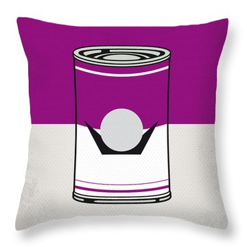 My Mario Warhols Minimal Can Poster-waluigi Throw Pillow