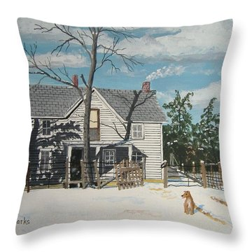 My Master Will Soon Be Home Throw Pillow by Norm Starks