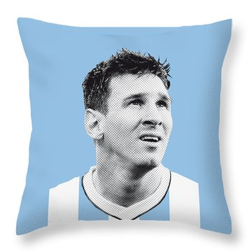 My Messi Soccer Legend Poster Throw Pillow by Chungkong Art