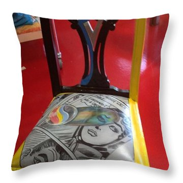 My Mother Was A Table Throw Pillow by Darlene Graeser