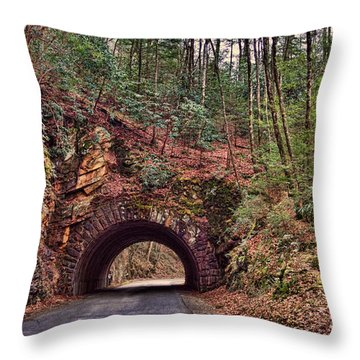Throw Pillow featuring the photograph My Mountain Tunnel by B Wayne Mullins