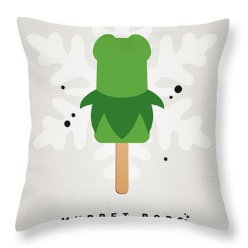 My Muppet Ice Pop - Kermit Throw Pillow by Chungkong Art