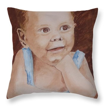 My Nephew As A Child Throw Pillow
