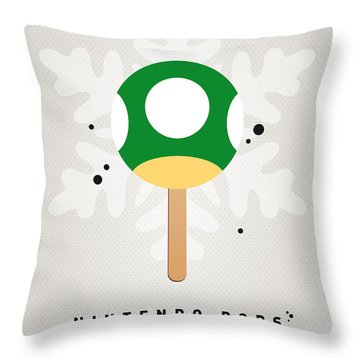 My Nintendo Ice Pop - 1 Up Mushroom Throw Pillow by Chungkong Art