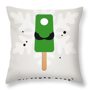 My Nintendo Ice Pop - Luigi Throw Pillow by Chungkong Art