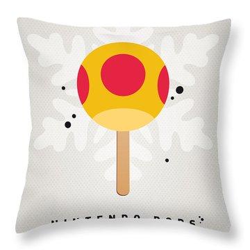 My Nintendo Ice Pop - Mega Mushroom Throw Pillow by Chungkong Art