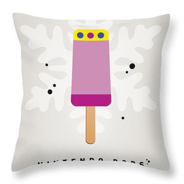 My Nintendo Ice Pop - Princess Peach Throw Pillow by Chungkong Art
