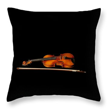 My Old Fiddle And Bow Throw Pillow