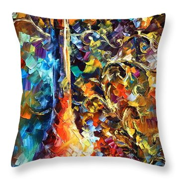 My Old Thoughts 2 Throw Pillow by Leonid Afremov