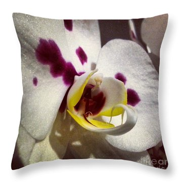My Orchid Throw Pillow by Heather L Wright