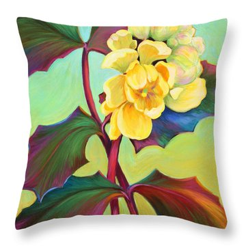 My Oregon Grape Throw Pillow
