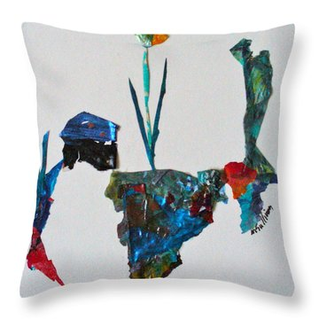 Throw Pillow featuring the mixed media My Own Sweet Time by Mary Sullivan