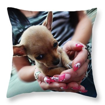 My Palm Sweetheart Throw Pillow by Xueling Zou
