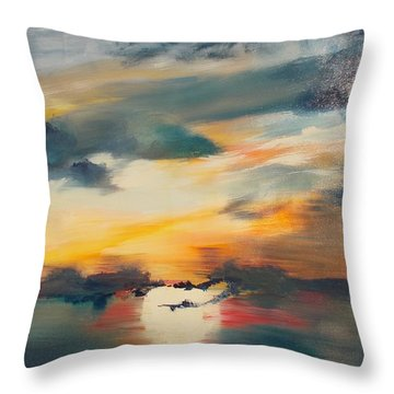 My Paradise Sunrise Throw Pillow by PainterArtist FIN