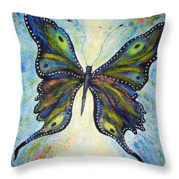 My Peacock Butterfly Throw Pillow