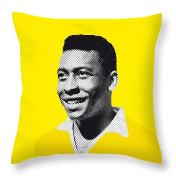 My Pele Soccer Legend Poster Throw Pillow by Chungkong Art