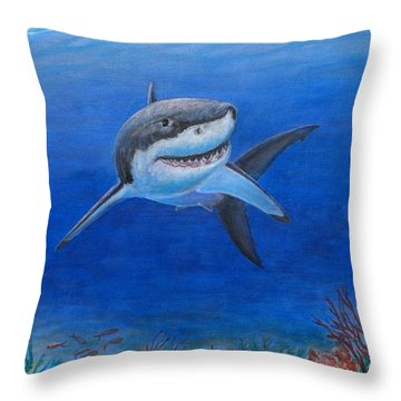 My Pet Shark Throw Pillow