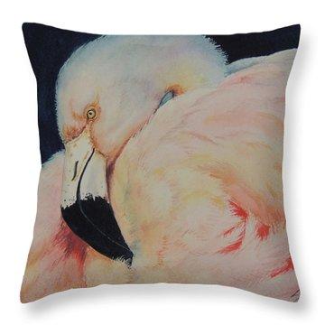 My Pink Flamingo...sold  Throw Pillow