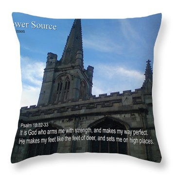 My Power Source Throw Pillow