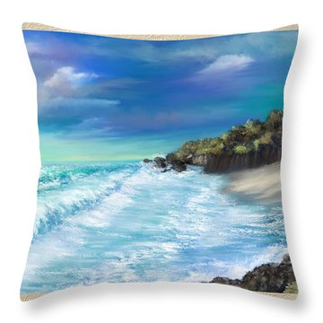 My Private Ocean Throw Pillow by Susan Kinney