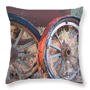 Throw Pillow featuring the photograph My Rambling Days Are Done by Brooks Garten Hauschild