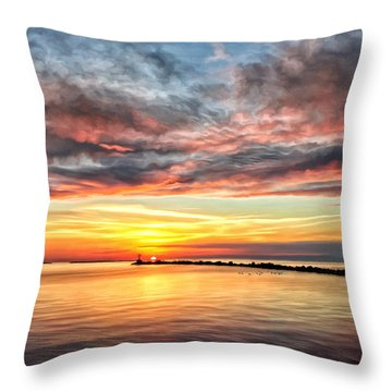 My Return To Cape Charles Virginia Throw Pillow