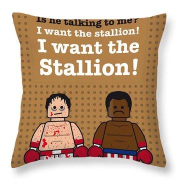 My Rocky Lego Dialogue Poster Throw Pillow by Chungkong Art