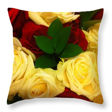 Throw Pillow featuring the digital art My Rosy Throw by Gayle Price Thomas