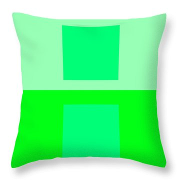 Color Field Green Throw Pillow