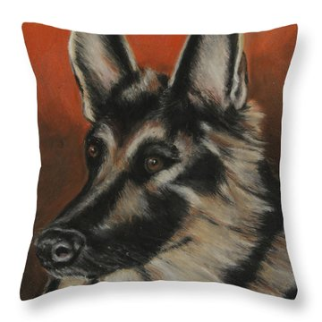 Throw Pillow featuring the painting My Sadie by Jeanne Fischer