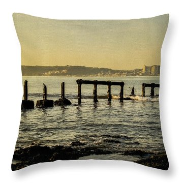 My Sea Of Ruins II Throw Pillow by Marco Oliveira