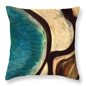 My Seascape I Throw Pillow by Carla Sa Fernandes