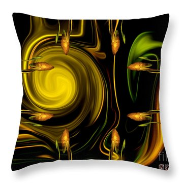 Throw Pillow featuring the digital art My Secret Garden - Abstract Art By Giada Rossi by Giada Rossi