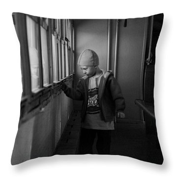 Throw Pillow featuring the photograph My Shadow by Jeremy Rhoades