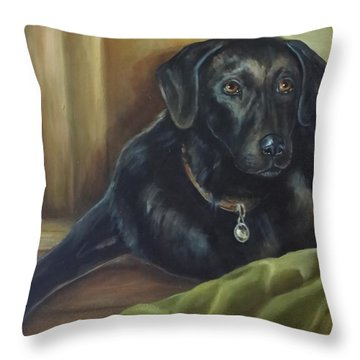 My Shadow Throw Pillow by Laurine Baumgart