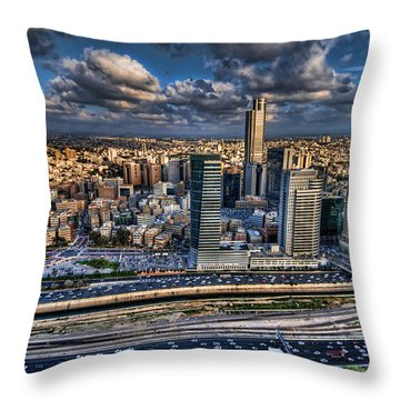 Throw Pillow featuring the photograph My Sim City by Ron Shoshani