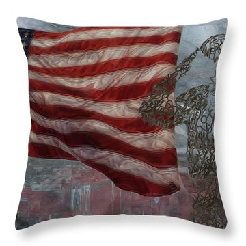 My Salute To The Unknown Throw Pillow by Jack Zulli
