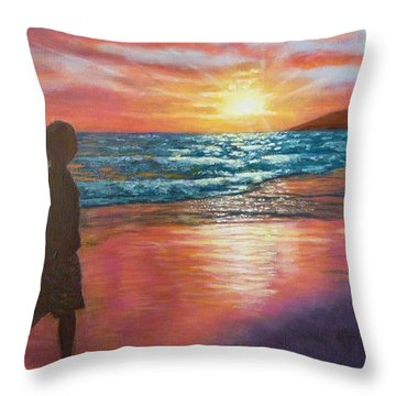 My Sonset Throw Pillow