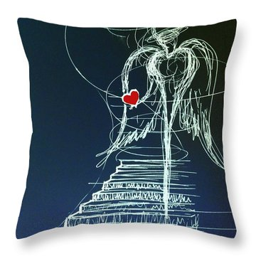 My Soul Awaits With Love At Hand Throw Pillow