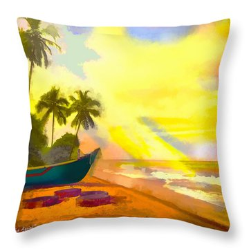 My Special Island Throw Pillow