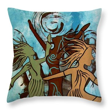 My Spirit Dances Throw Pillow