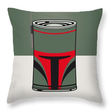 My Star Warhols Boba Fett Minimal Can Poster Throw Pillow