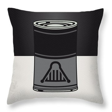 My Star Warhols Darth Vader Minimal Can Poster Throw Pillow by Chungkong Art