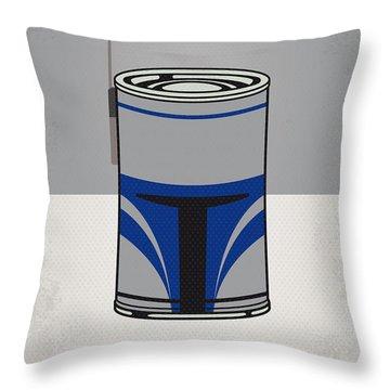 My Star Warhols Jango Fett Minimal Can Poster Throw Pillow