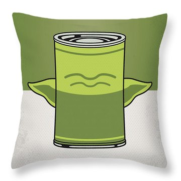 My Star Warhols Yoda Minimal Can Poster Throw Pillow