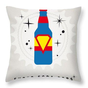 My Super Soda Pops No-05 Throw Pillow by Chungkong Art